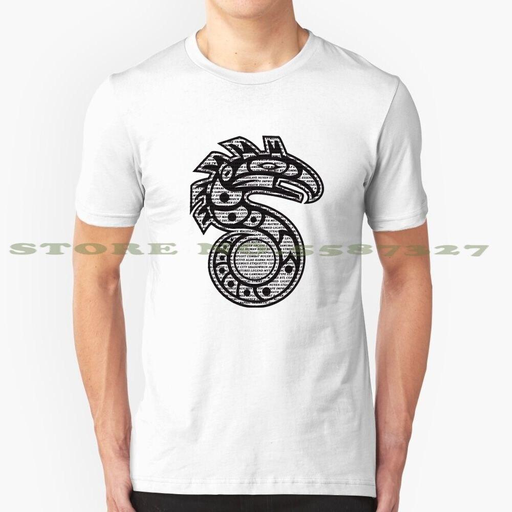 Shadowrun texto moda Vintage camiseta camisetas Shadowrun texto Shadowrun Shadowrunner D juego de rol aventura Snake Hawk