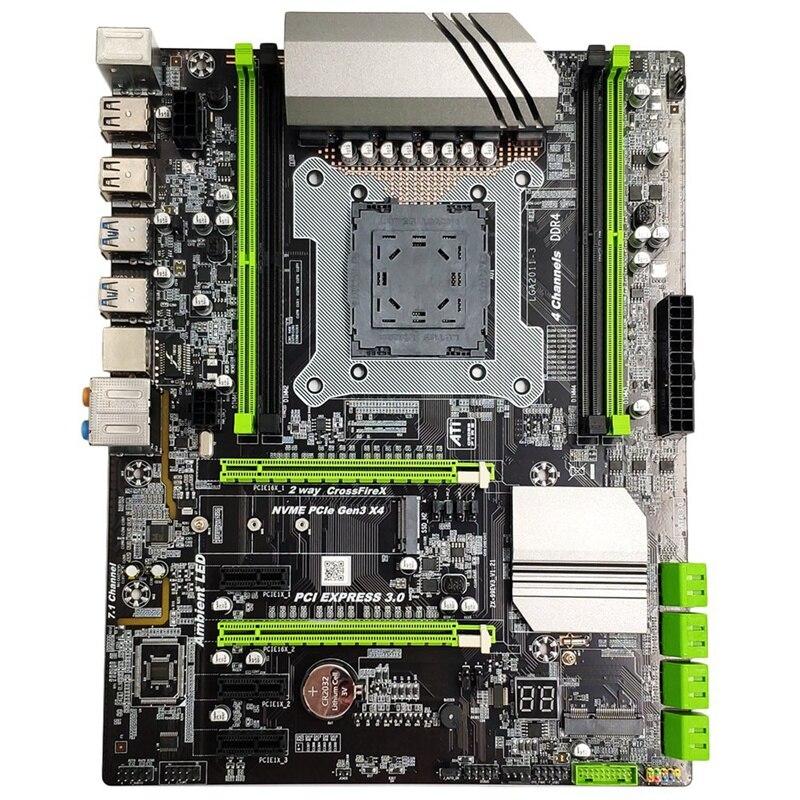 Placa base X99 LGA2011-3 para Intel I7 E5 4 canales DDR4 2133/2400/2800 32G RAM, NVME SSD m2, ssa2.0, USB3.0, PCIE16X ranuras