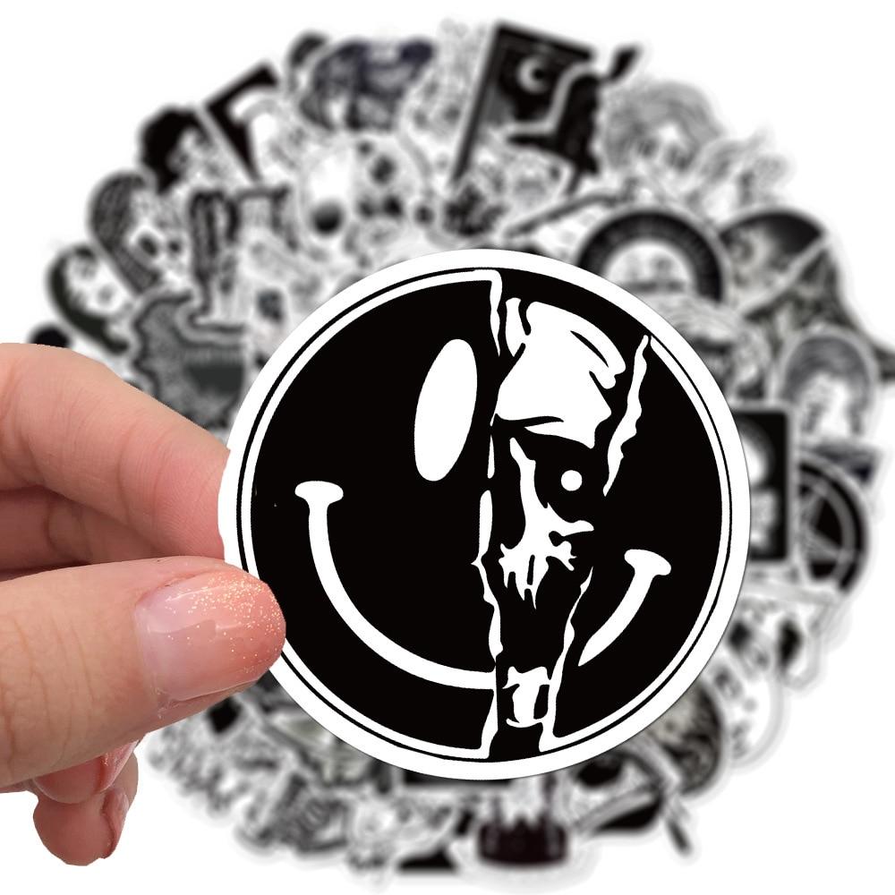 100 unid/set gótico ic Negro estilo clásico Terror ET pegatina Halloween monstruos oscuros pegatinas divertidas DIY Estuche De Viaje Skateboard portátil