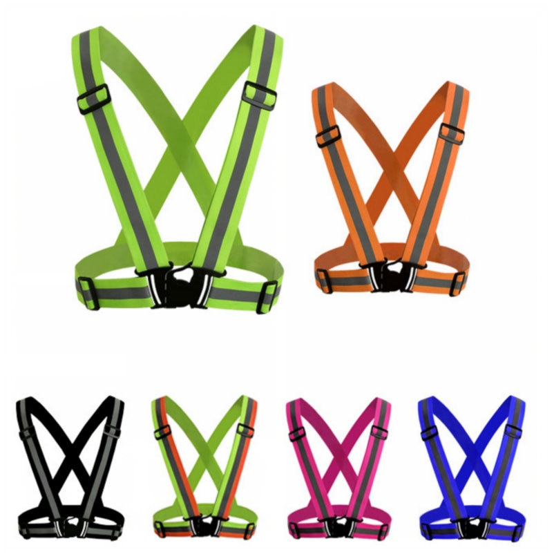 Highlight Reflective Straps Night Running Riding Clothing Vest Adjustable Safety Vest Elastic Band For s and Children