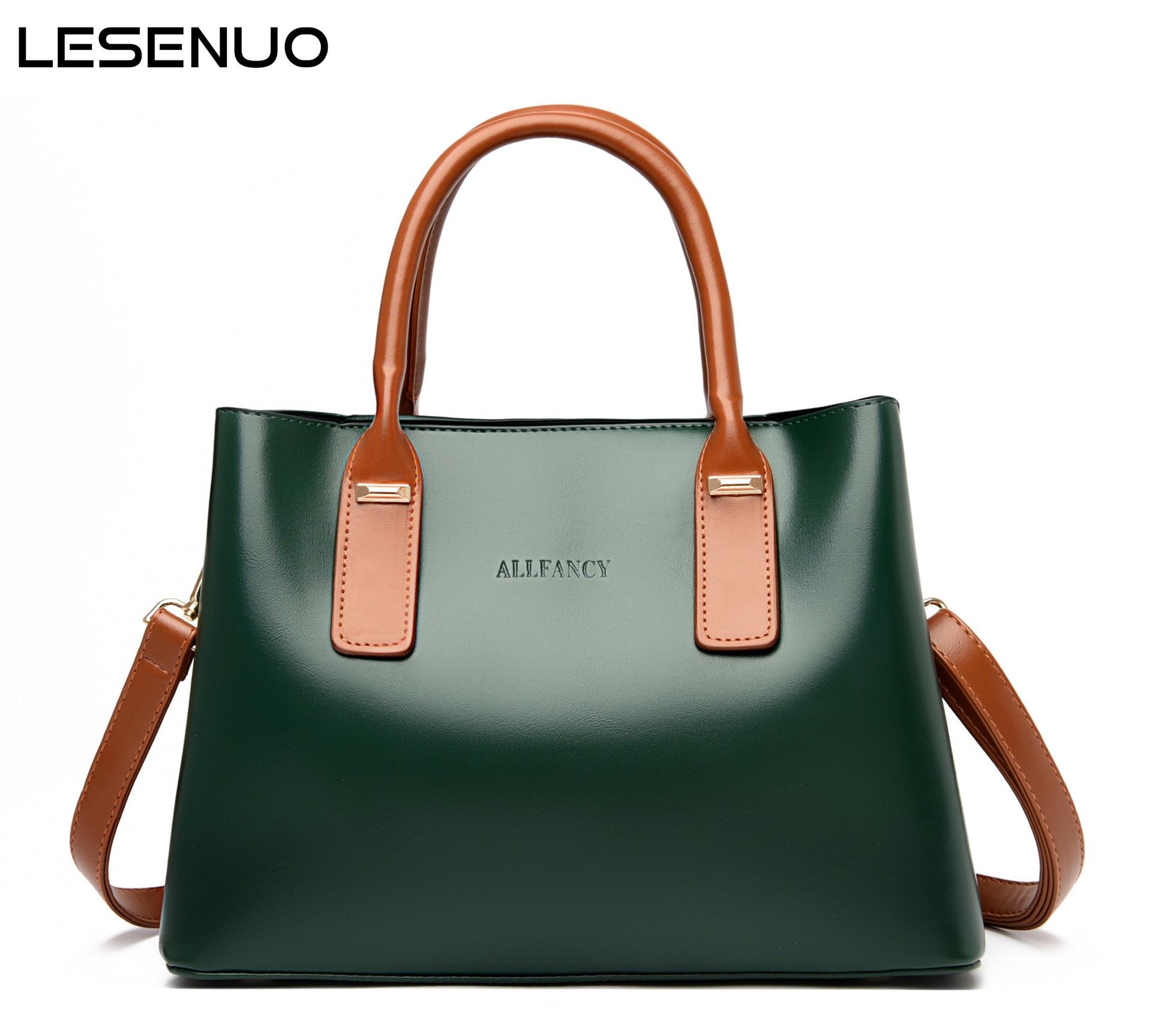 LESENUO Women Vintage Handbags Designer Large Capacity Tote Bag 2020 Ladies Fashion Luxury Handbags Brand Handbags Shoulder Bag