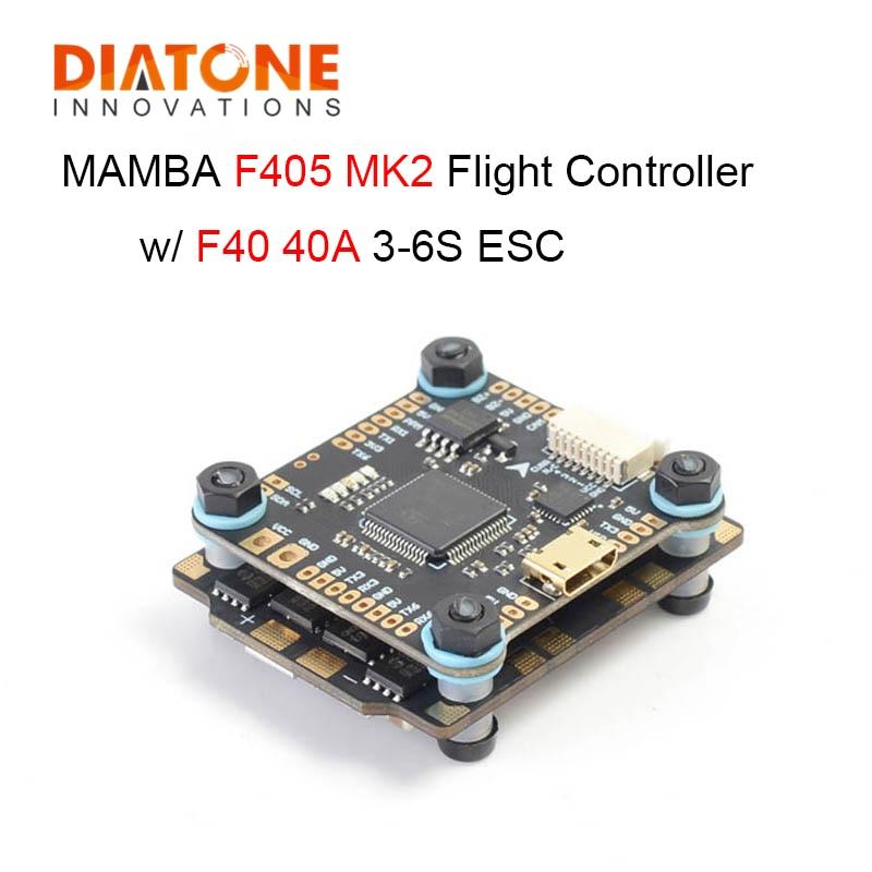 MAMBA F405 MK2 Betaflight Controller و F40 40A 3-6S DSHOT600 وحدة تحكم طيران ESC بدون فرش للطائرات بدون طيار RC FPV