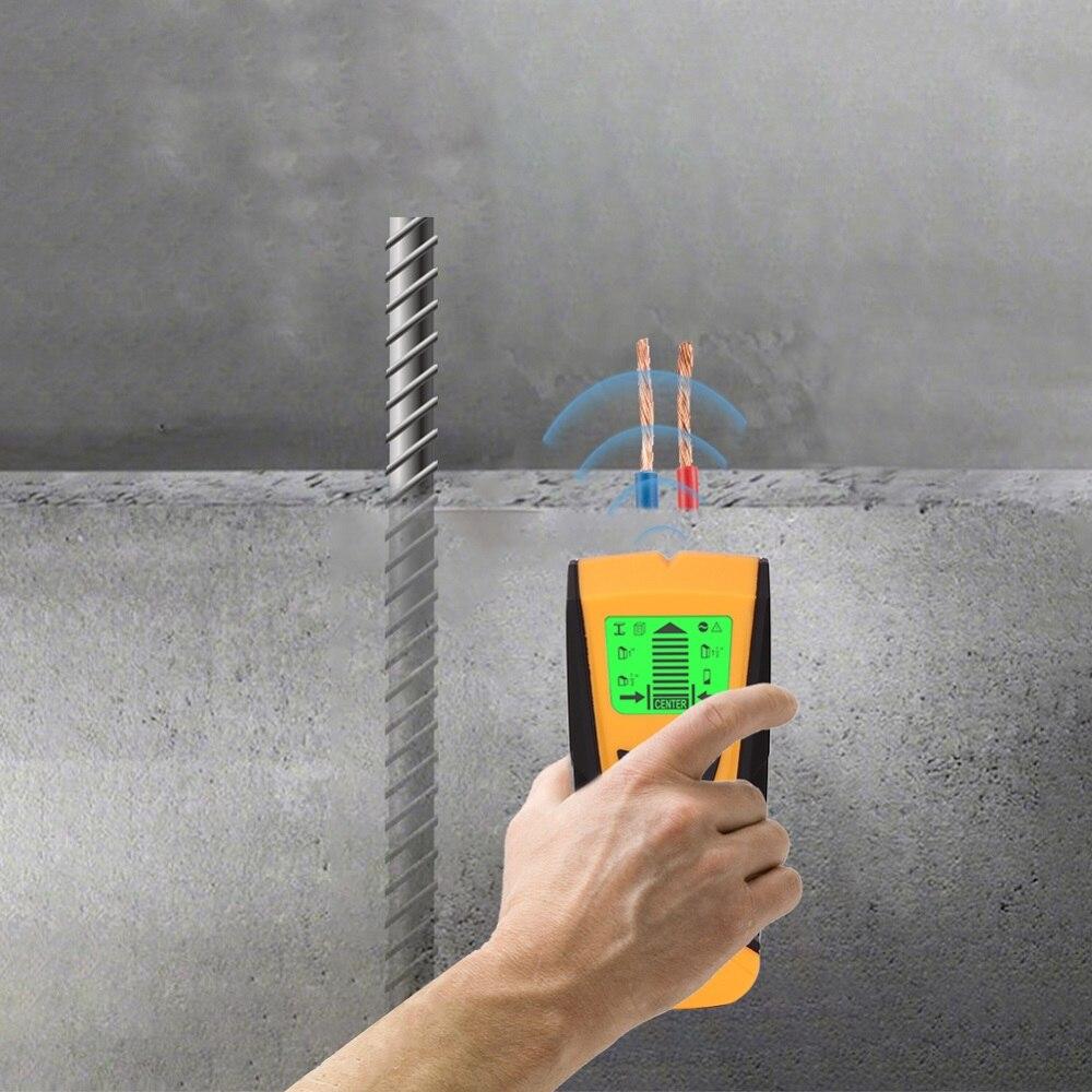 3 في 1 LED عرض الجدار للكشف عن المعادن متعددة الوظائف للكشف عن المعادن العثور على دبوس خشبي كابل معدني للكشف عن الجدار الماسح الضوئي