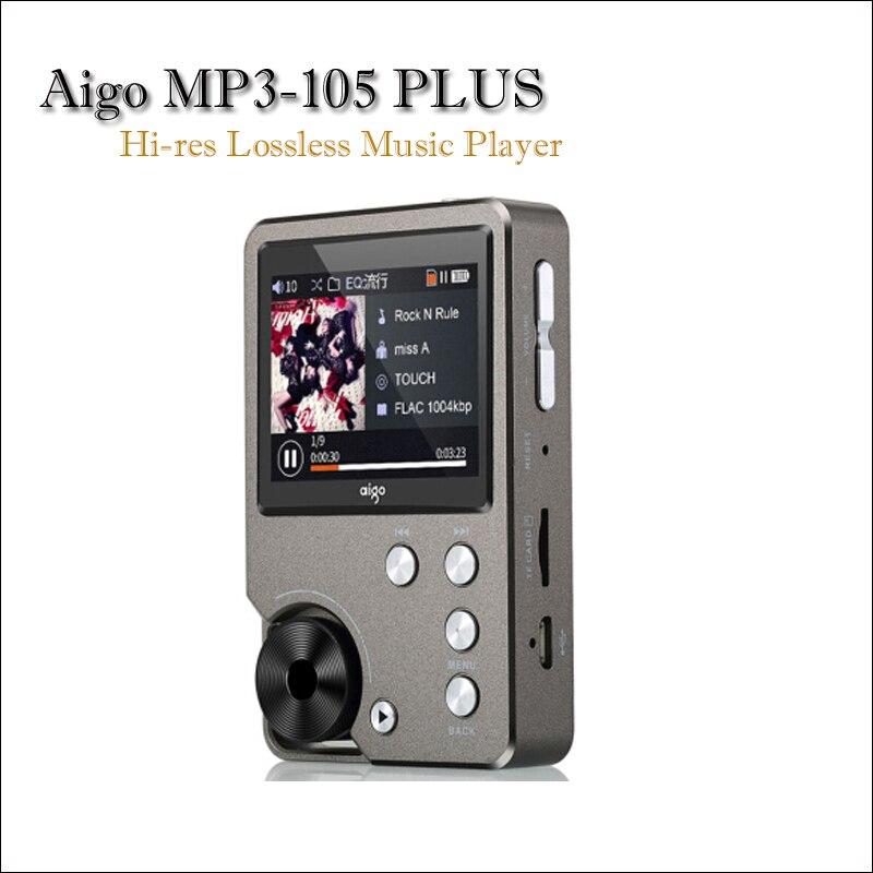 Aigo MP3-105 PLUS Hifi музыкальный плеер Mp3 с экраном WM8965 Mini Портативный Hi-res Flac MP3-плеер DSD спортивный USB аудио плеер