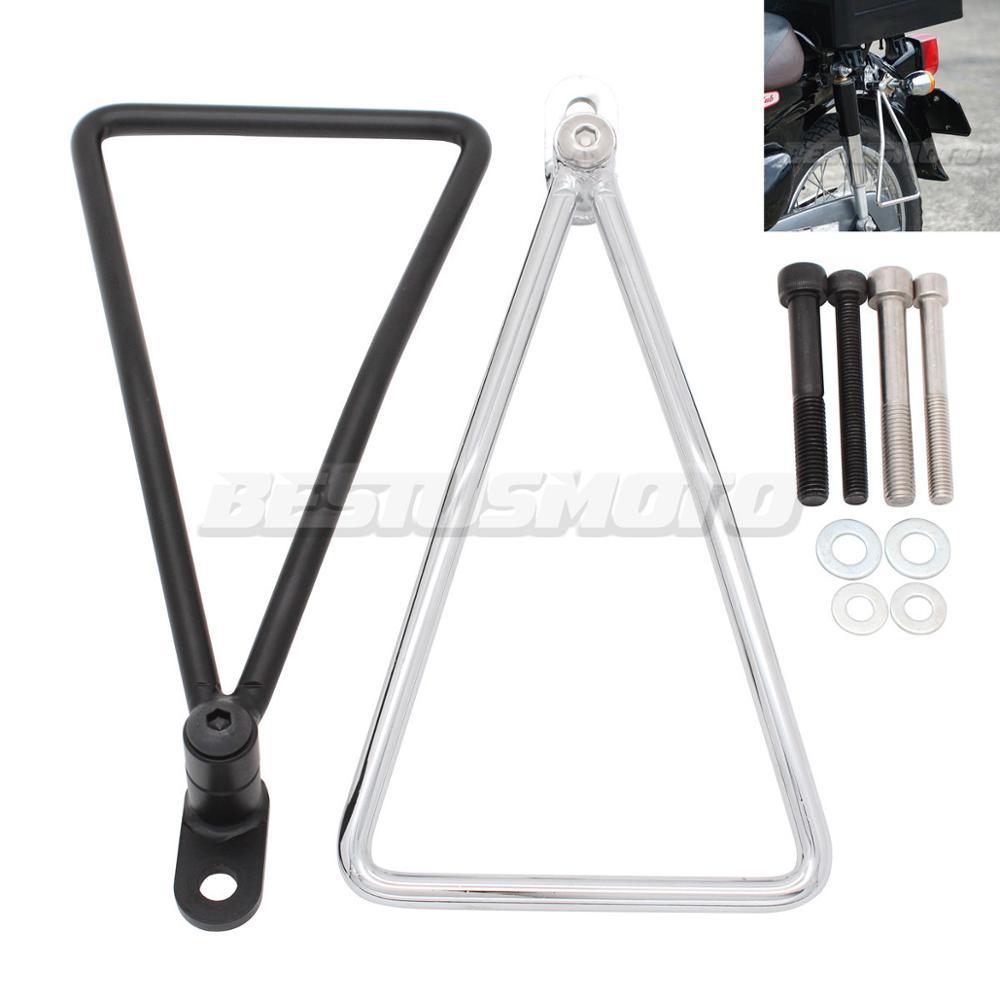 Motocicleta Universal Negro cromado alforja bolsa soporte barras soporte para Honda Super Cub 50 65 70 90 C100 C125