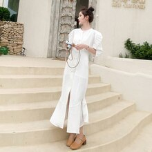 New 2021 Summer Mid-Length Sleeve Mid-Length Dress