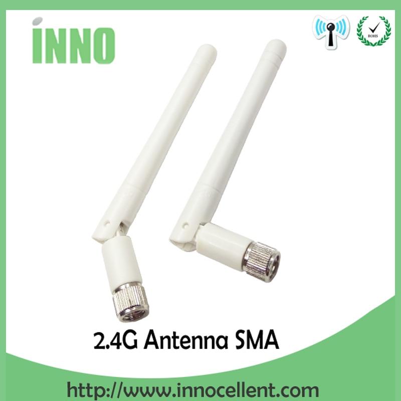 2.4GHz antenna wifi SMA male connector 3dbi 2.4G antena wi fi antenne for wireless wi-fi router white antennas antenas enlarge