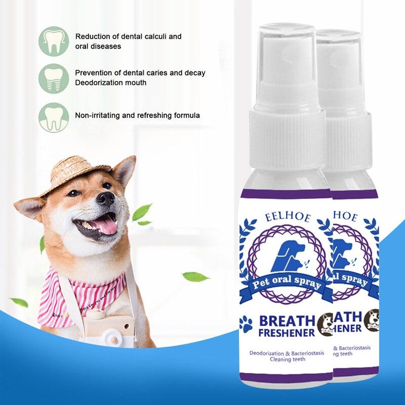 30ml désodorisant pour animaux de compagnie antibactérien Spray chien dents nettoyant chien chat Oral sain soins dentaires sain soins dentaires frais