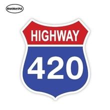 HotMeiNi 13cm X 11.1cm voiture style autoroute 420 mauvaises herbes autocollant autocollant voiture pare-chocs fenêtre vinyle décalque voiture autocollants voiture accessoires