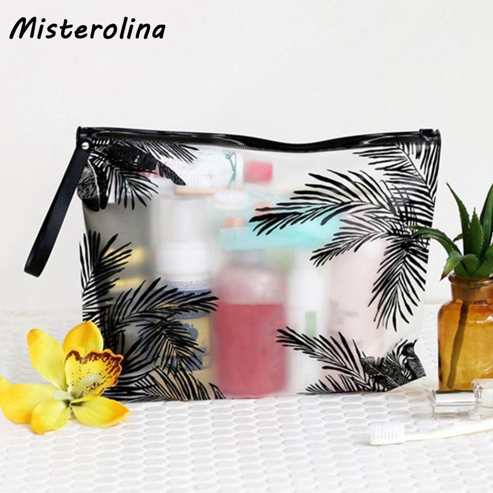women small makeup bags organizer bag glitter pvc cosmetic bag travel transparent pouch storage toiletry bag 2020 new Travel Cosmetic Bags PVC Waterproof Transparent Women Up Makeup Bag Toiletry Portable Organizer Bag Make Wash Pouch Storage V3X2