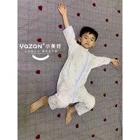 yazan stretch gauze split leg sleepsack newborn children home wear mobile clothing lightweight breathable quality