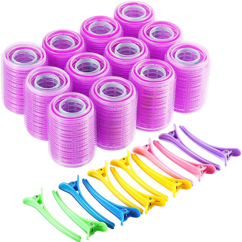 24/36/48 Pcs Self Grip Hair Rollers Curler Set, 3 Sizes Heatless Curls with Hair Clips, Soft Hair Cu