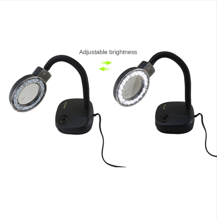 BST-208L Adjustable LED Magnifying Glass Table Lamp LED Lights 5X 10X Magnification enlarge