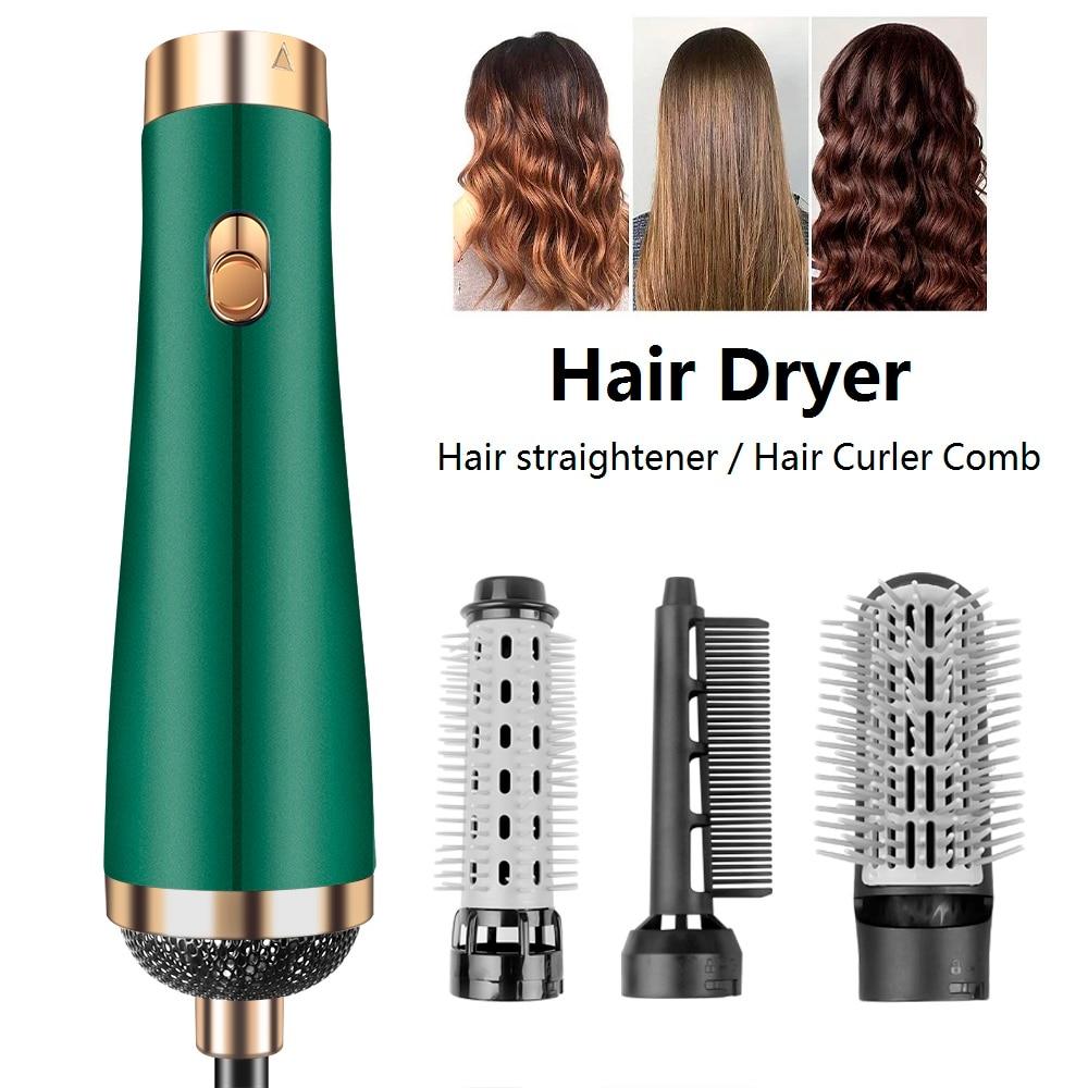 فرشاة مجفف الشعر الكهربائية الأيونية 3 في 1 ، فرشاة تصفيف الهواء الساخن ، مكثف ، لفرد وتمويج الشعر
