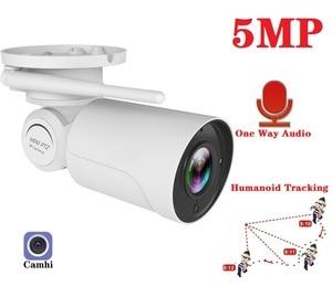 1080P 5MP Bullet WiFi Camera Humanoid Tracking Outdoor Night Vision IP66 Weatherproof Audio Recording AI Human Detect Camhi