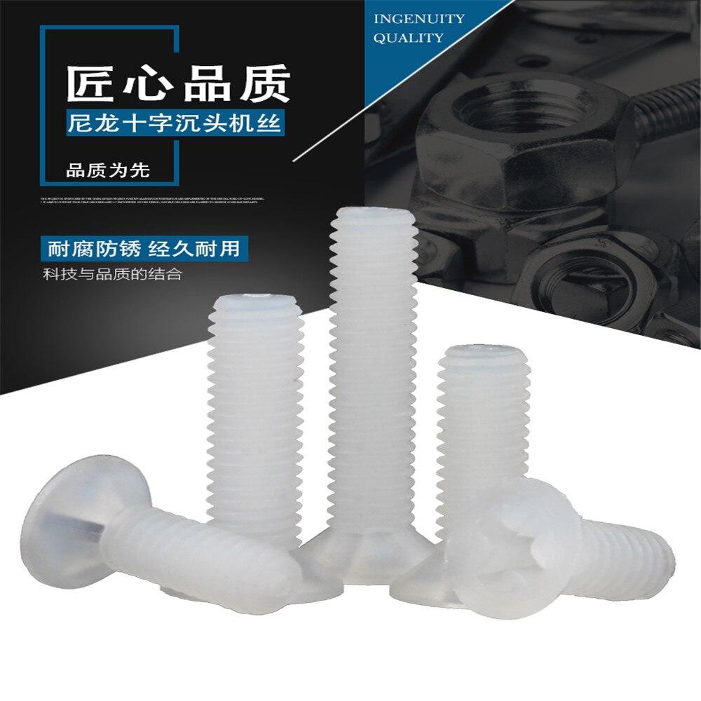 M2.5/M3 Vis Plastic Nylon Parafuso Cross recesed contadores tornillo de cabeza plana...