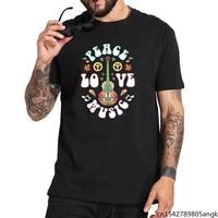 peace love music hippie journal hippies peace love art t shirt short sleeved eu size tops