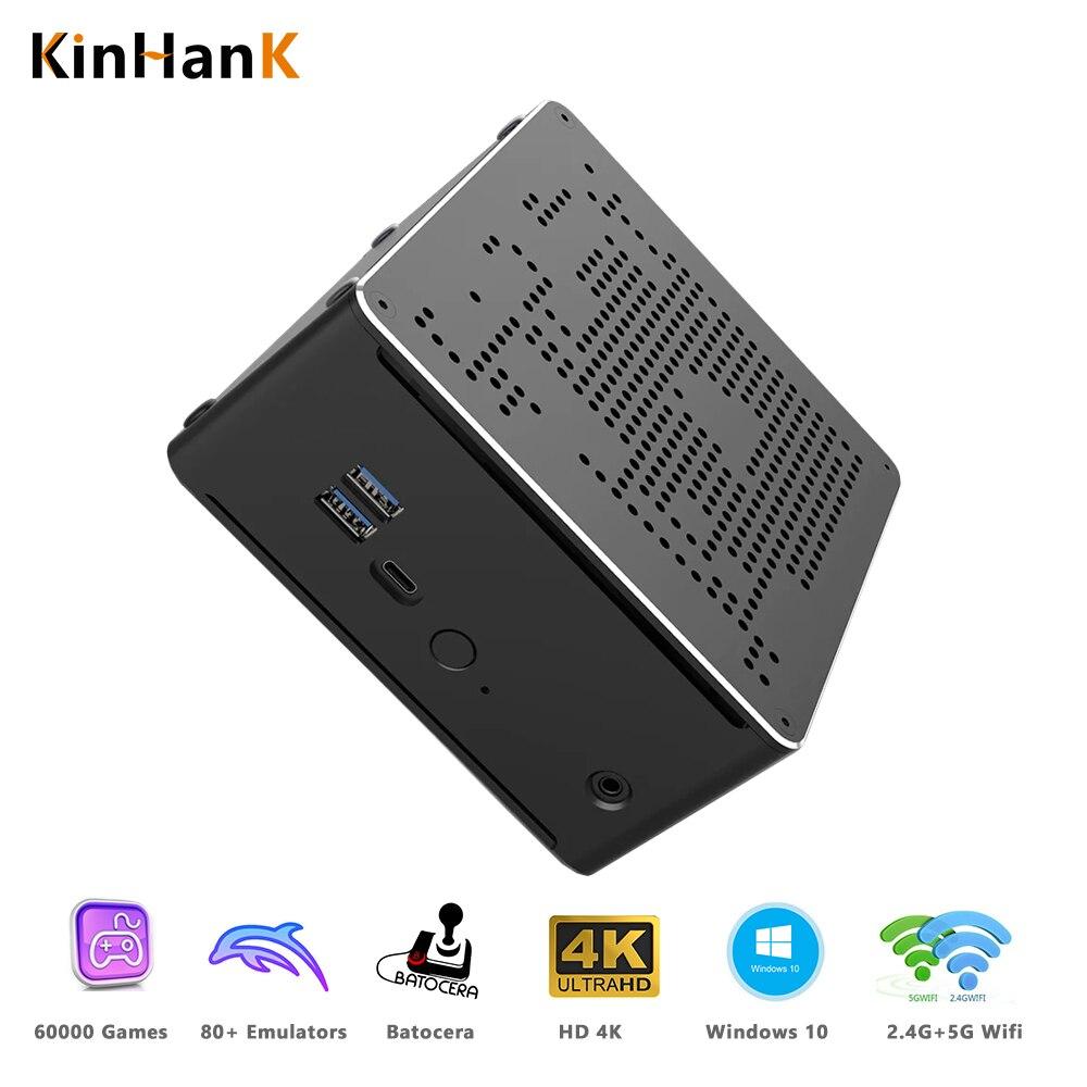 Kinhank™سوبر وحدة التحكم X صندوق كمبيوتر صغير ل PS2/وي/سيجا زحل/ممر ريترو لعبة فيديو لاعب 2 تيرا بايت HDD مع 60000 ألعاب