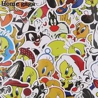 homegaga 40pcs bird and cat cute stickers kawaii cartoon animal stickers for kids stickers scrapbooking bike car stickers d3136