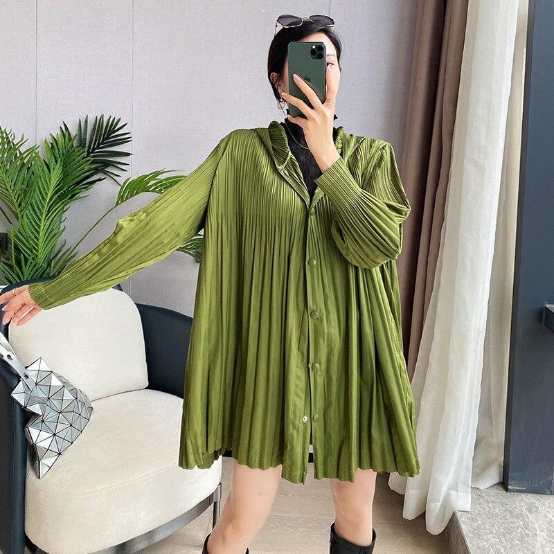 جديد خريف 2021 معطف ميياك مطوي للنساء