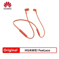 New Huawei FreeLace Sport Earphone Bluetooth wireless Headset Memory Cable Metal Cavity Liquid Silicon MAGNETIC SWITCH