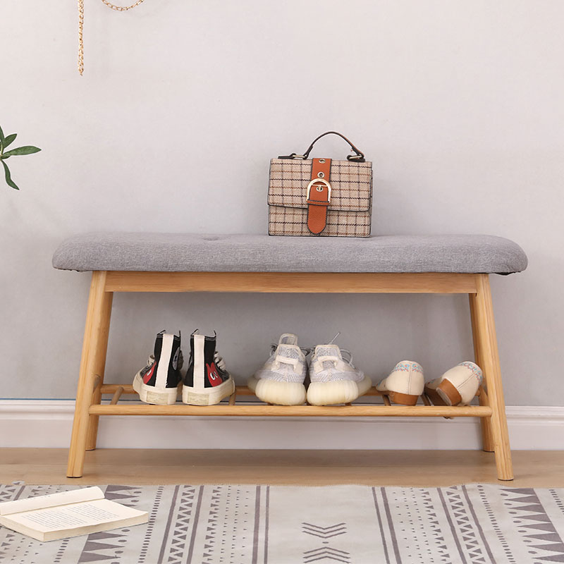 أثاث غرفة المعيشة المنزل الخيزران القدم البراز مقعد بسيط الحديثة التخزين الإبداعية النسيج الخيزران متعدد الطبقات رف الأحذية HWC