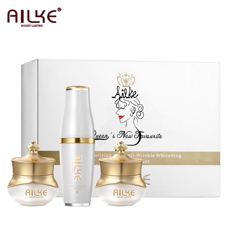 AILKE rose Skin Care set Best Selling collagen lifting Whitening Anti-Wrinkle acne Essence Gift Serum ordinary rejuvenator face