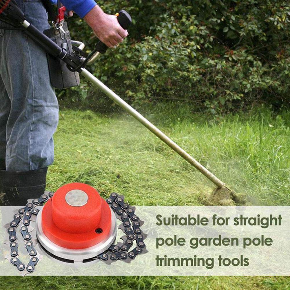 Universal Trimmer Head Chain Brush Cutter Garden Grass Trimmer With Thickening Chain Weeding Head For Lawn Mower