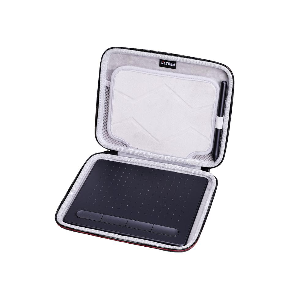 LTGEM Waterproof EVA Hard Case for Wacom CTL4100 Intuos Graphics Drawing Tablet