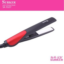 surker electric hair straightener SK-9107 straightening iron Hair Care negative ion 3D floating  pan