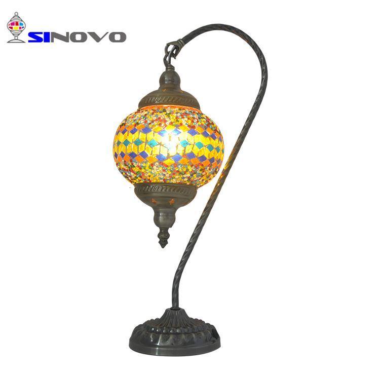 Lámpara de mesa de mosaico de cristal Led para mesita de noche de Hotel fabricante Zhongshan