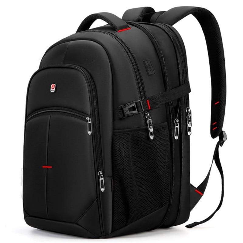 حار جديد الموضة الذكور على ظهره الترفيه السفر 17.3 بوصة حقيبة طالب الكمبيوتر متعددة الوظائف ذات سعة كبيرة تصميم عالية الجودة