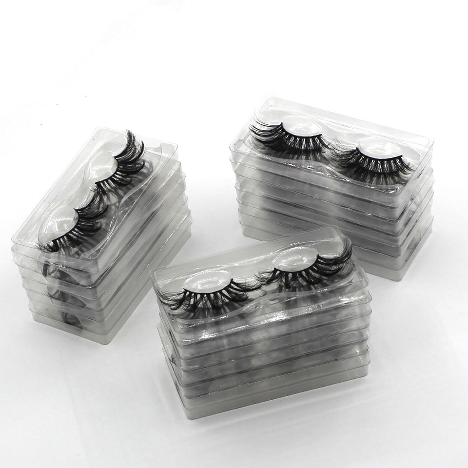 Damepapil 10/20/30/50/100 Pairs Lot Eyelash Wholesale Hand Made 25mm Eyelashes Full Strip Faux Mink Eyelashes Bulk Lash Vendor