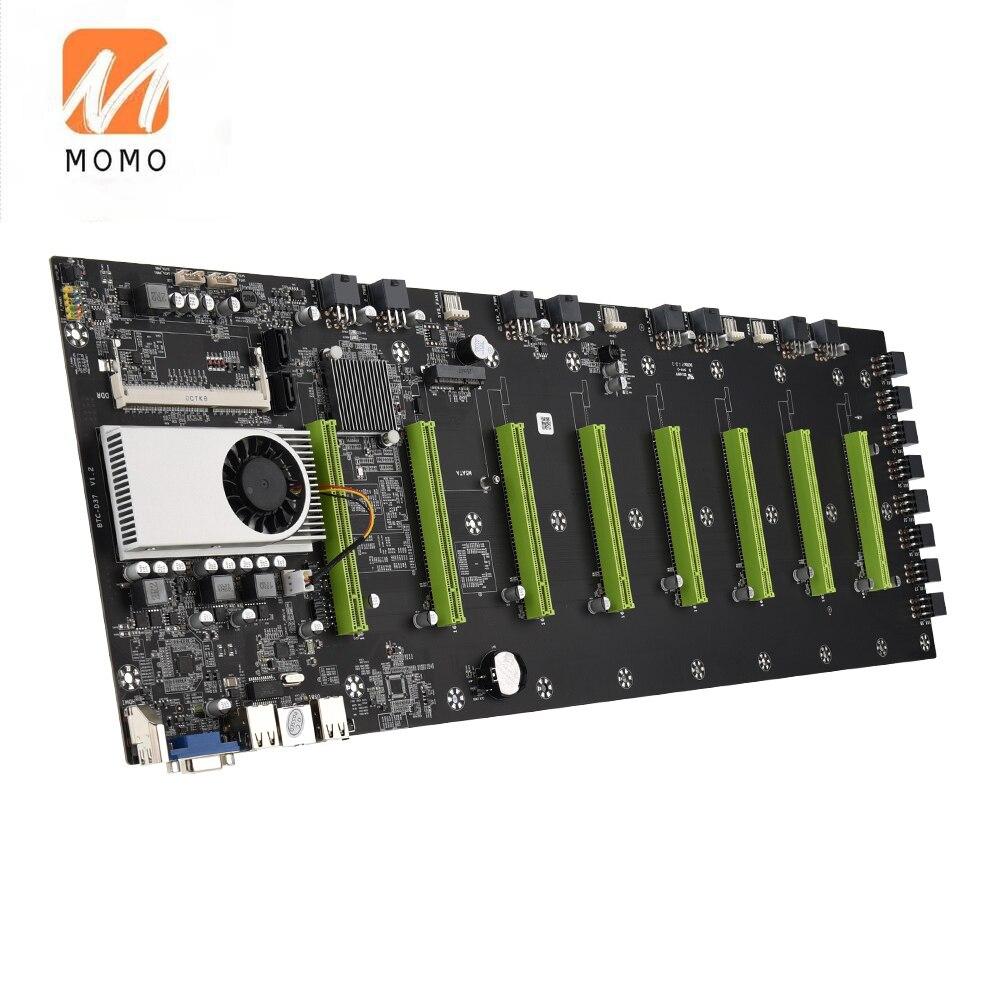Крипто-эфирный добывающий Риг, 8 GPU материнская плата Биткоин ETH ZEC Ether LiteCoin, добыча 8 шт. графики