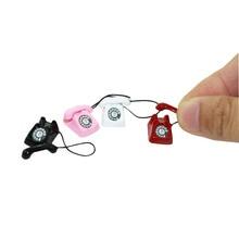 1/12 Miniature scène modèle maison de poupée accessoires Mini téléphone enfant jouets pour enfants fête danniversaire cadeau de noël cadeau