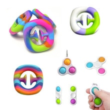 Paquete de juguetes antiestrés para niños y adultos, Set educativo de mano para aliviar el estrés, con hoyuelos simples, novedad