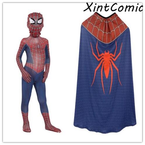 Clásico rojo y azul chico s Spider-Man Raimi disfraz Cosplay mono disfraces de halloween para chico spiderman disfraz