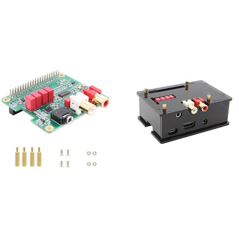 لوحة توسيع Raspberry Pi HIFI DAC o ، شريحة PCM5122 متوافقة مع 3B/3B مع الغلاف