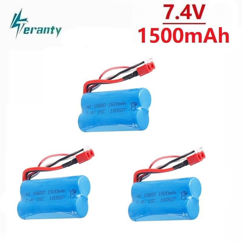 7.4V 1500mAh 18650 Battery for Wltoys 12428 12401 12402 12403 12404 12423  FY-03 FY01 FY02 rc toys 7.4V LIPO Battery Spare Parts