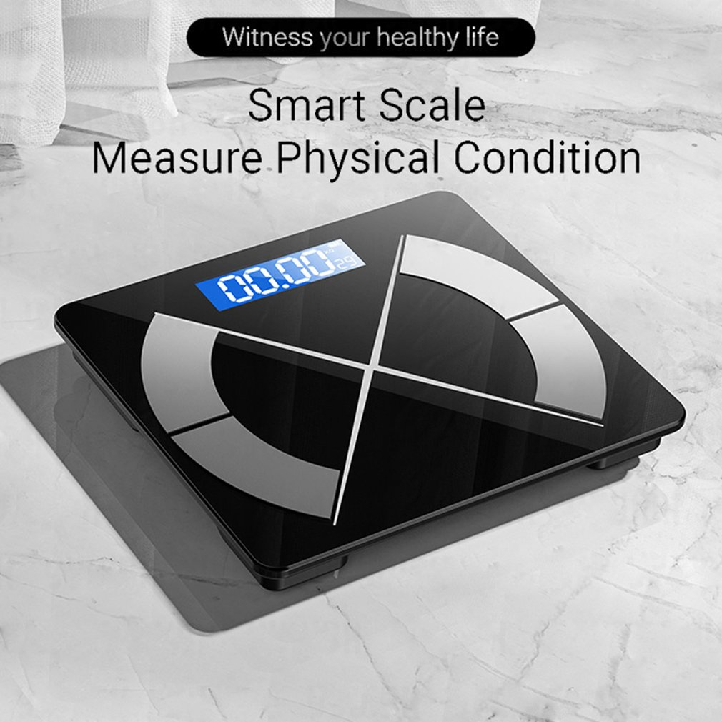 مقياس الدهون في الجسم اللاسلكية الالكترونية الرقمية مقياس الوزن الذكية ميزان حمام الطابق ميزان وزن الجسم