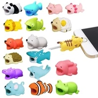 cute animal bite usb cable protector funny usb wire management marker organizer holder for iphone earphone cable funny model