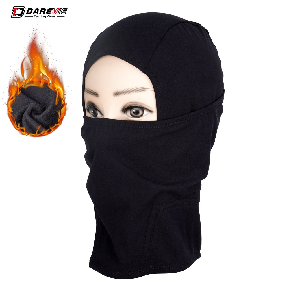 DAREVIE Cycling Winter Thermal Mask Hot Windproof Cycling Face Masks Full Head Windproof Warm Half Face Mask Warm Neck Scarf