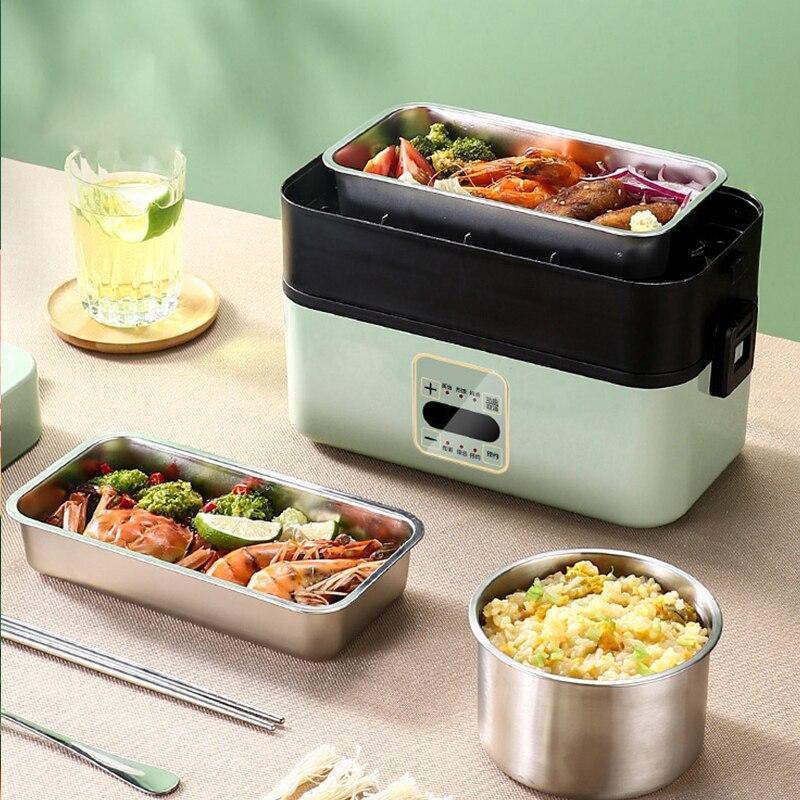 علبة طعام للتسخين الكهربائية وجبات الحفاظ على مكتب مدرسة مطعم الغذاء صندوق طازج الحرارية بينتو الحاويات