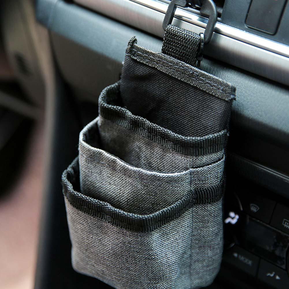 Автомобильный карман вентиляционная сумка для мобильного телефона сумка для хранения автомобиля маленький органайзер для хранения Ткань Оксфорд автоматическое хранение Карманный автомобильный Стайлинг