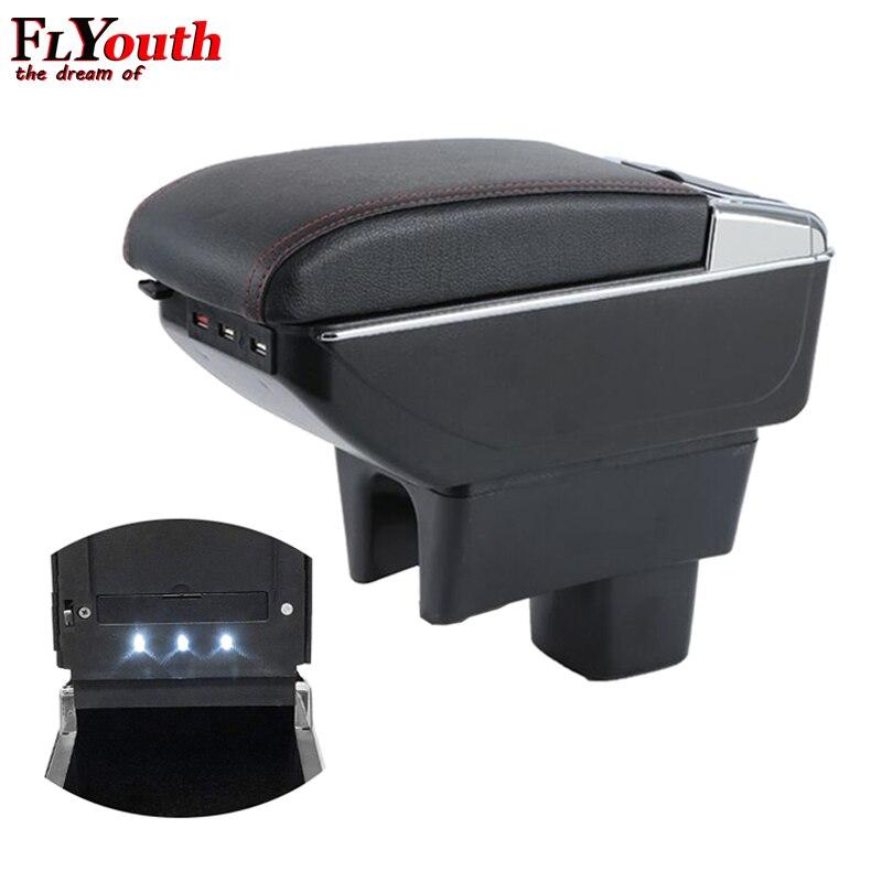 Подлокотник коробка для Suzuki Swift 2005-2018 USB зарядка светодиодный фонарь для автомобиля подлокотник поворотный центр консоль коробка для хранен...