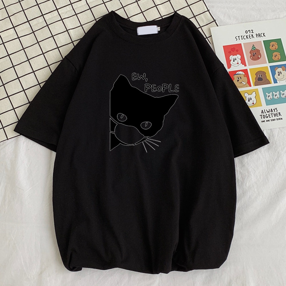Мужские футболки с забавным принтом Ew People, забавная Винтажная футболка в стиле ретро, забавные мужские футболки с коротким рукавом