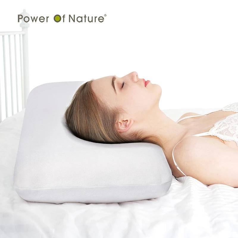 PON متموج رغوة الذاكرة وسادة نوم انتعاش بطيء العظام وسادة وسادة حانية الفراش ل آلام الرقبة النوم