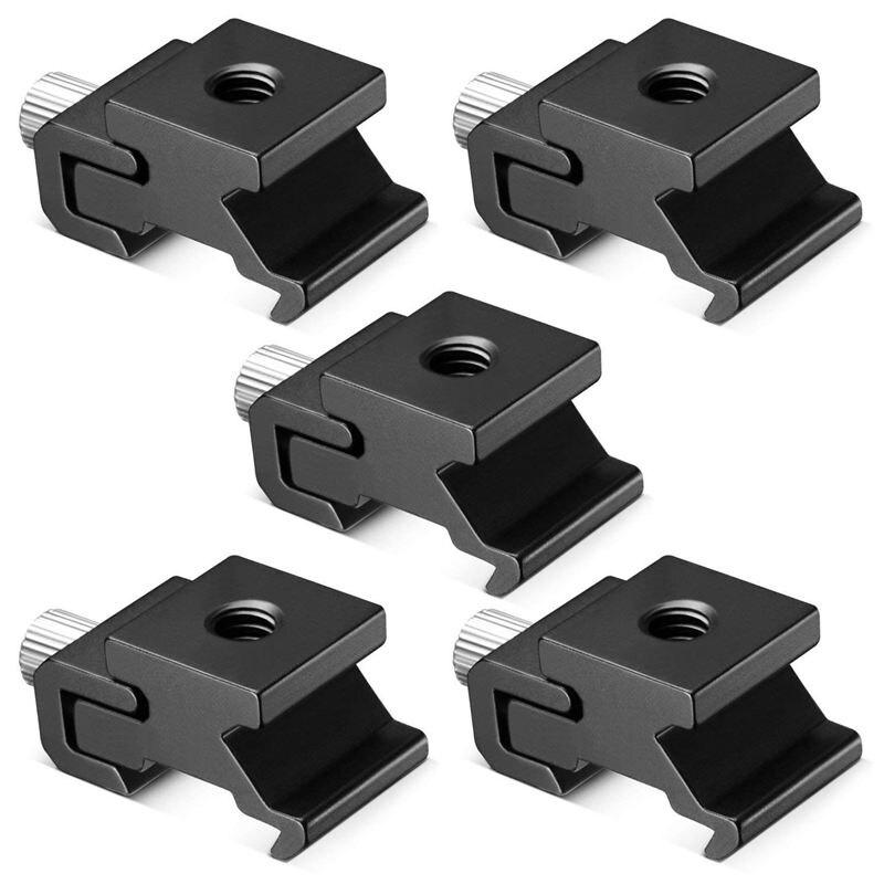 5 uds. Adaptador de montaje de soporte de zapata de Flash de zapata de cámara de Metal frío con tornillo de trípode 1/4 para trípode con soporte para luz