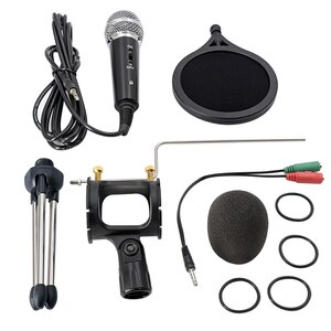 3.5mm Jack Microfone Recording Condenser Microphone Mobile Phone Microphonefor Computer PC Karaoke Mic For Iphone Android