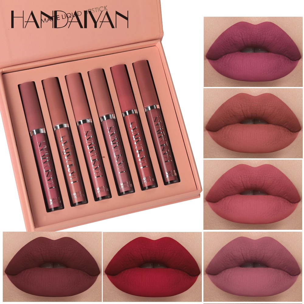 Nuevos cosméticos ligero mate brillo labial de larga duración impermeable lápiz labial no-pegajoso taza nutre el labio maquillaje
